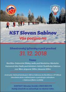 Silvestrovský prechod cez Kamennú lúku 2018 @ Renčišov